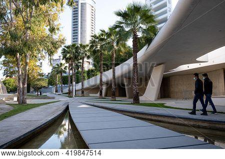 Nicosia, Cyprus -  March 22, 2021: The Modern And Futuristic Architecture Of Eleftheria Square In Ni