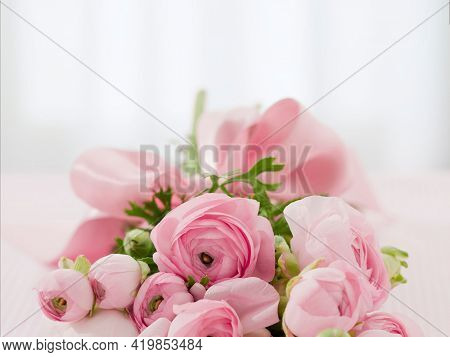 Pink Roses Bouquet Beautiful Roses With Background Fresh Single Pink Rose Nature Beauty Landscape Va