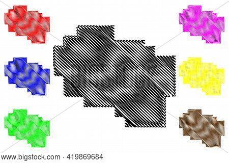 Crook County, Oregon State (u.s. County, United States Of America, Usa, U.s., Us) Map Vector Illustr