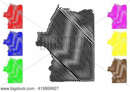 Josephine County, Oregon State (u.s. County, United States Of America, Usa, U.s., Us) Map Vector Ill