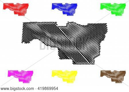 Lane County, Oregon State (u.s. County, United States Of America, Usa, U.s., Us) Map Vector Illustra