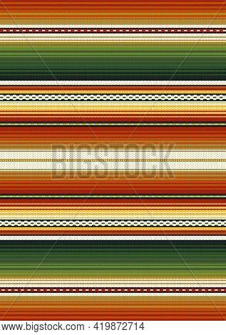 Mexican Serape Design Vector Seamless Pattern. Colorful Stripe Background. Ethnic Boho Fabric Illust