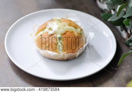 Cheese Bun, Mozzarella Cheese Bun Or Bun With Cheese Stuffed Or Cheese Bread
