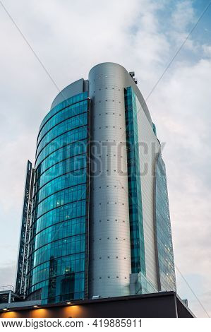 Madrid - May 1, 2021: Low-angle View Of Modern Office Buildings In The Azca Business District In Mad