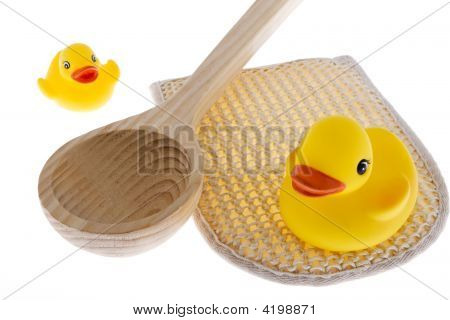 Rubber Duck With Utensils Sauna