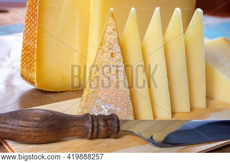 Cheese Collection, French Comte And Swiss Gruyere Cheeses