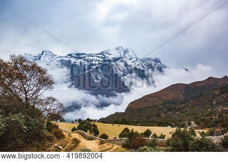 Mount Kongde-ri In Sagarmatha National Park In Himalayas Mountains, Nepal