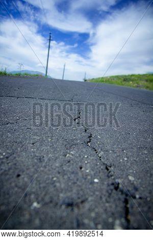 Asphalt Road, Asphalt Texture, Cracked Asphalt Texture