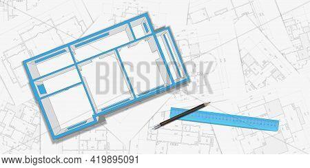 Architectural Plan,technical Project .house Plan Project .engineering Design .industrial Constructio