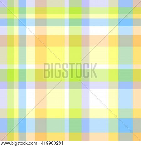 Seamless Multicolored Pattern. Checkered Texture. Abstract Geometric Texture For Design. Light Color