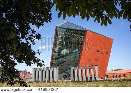 Gdansk, Poland - Sept 9, 2020: The Museum Of Second World War, Gdansk, Poland