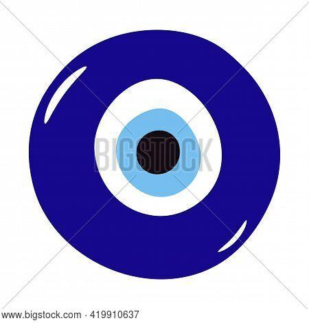 Glass Islamic, Greek Amulet. Evil Eye Protection Sign.