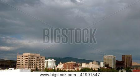 Clouds Over The Boise, Idaho City Skyline