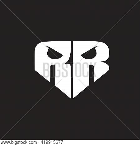 Rr Skull Logo Can Be Used For Entertainment And Media Logo Such As Youtube Channel, Apparel Brand, S