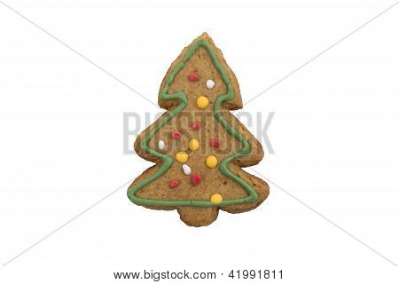 Decorated Sweet Gingerbread Cookie tree
