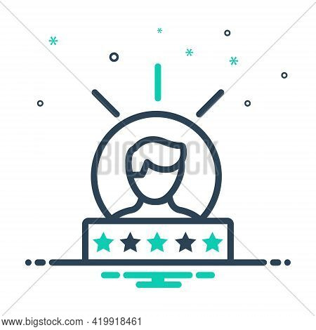 Mix Icon For Experience Feedback Testimonial Review