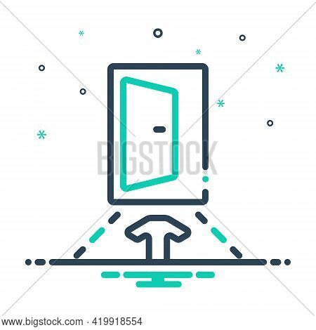 Mix Icon For Input Penetration Entry Admission Ingress