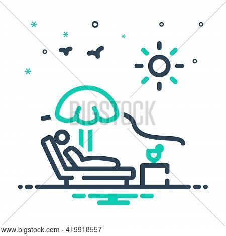 Mix Icon For Holiday Vacation Leave Leisure Relax