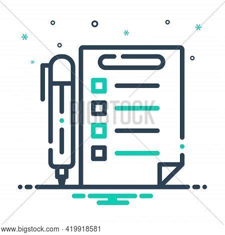 Mix Icon For Rules Prescript Method Guideline Concept