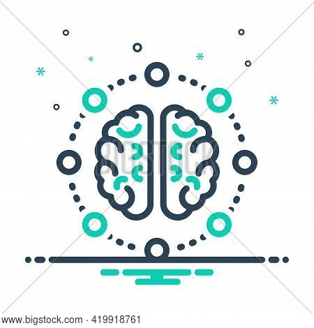 Mix Icon For Mind-share Mind Share Thoughts Neurone Distribute Dispense Apportion