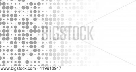 Grey Circles Mosaic Fading Abstract Background Pattern Geometrical Design Illustration