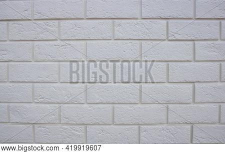 Abstract Texture , White Brick Wall Background, Rough Masonry Blocks, Architectural Wallpaper.