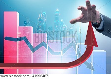Concept of supporting economic growth in economy