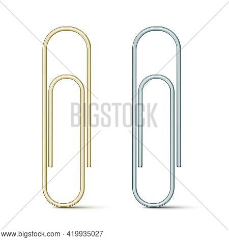 Vector Paper Clip Icon Isolated On White