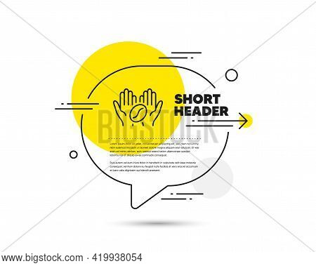 Coffee Line Icon. Speech Bubble Vector Concept. Hold Roasted Bean Sign. Love Caffeine Symbol. Coffee
