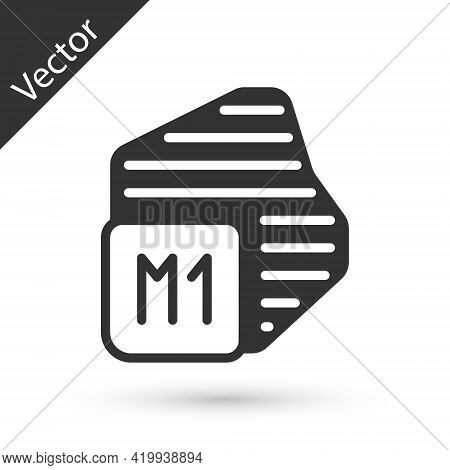 Grey Processor Icon Isolated On White Background. Cpu, Central Processing Unit, Microchip, Microcirc