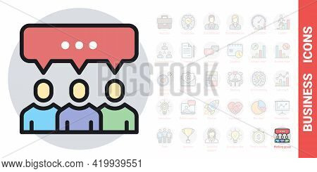 Working Group, Workgroup Or Team Icon. Group Of People United By Common Thought. Teamwork Concept. S