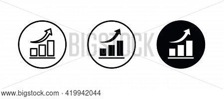Chart, Graph Icon. Glyph Statistics Graphs, Charts, Diagrams. Infographics, Data Analysis, Stats Too