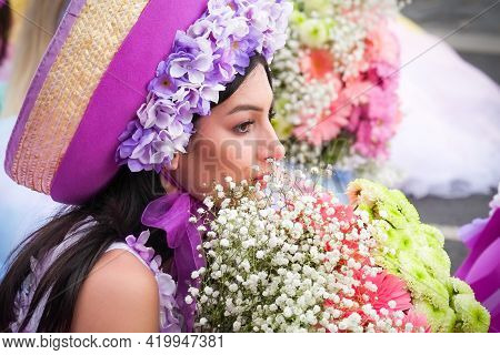 Funchal, Madeira, Portugal - April 22, 2018: Flower Festival In The Capital City Of The Portuguese I