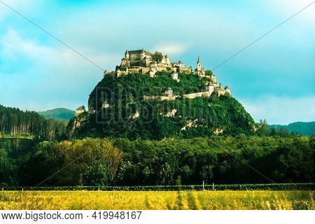 Hochosterwitz Castle On The Hill In Austria (osterreich).