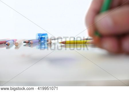 Artistic Drawing With Pastels, A Creativity Concept