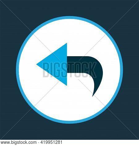 Undo Icon Colored Symbol. Premium Quality Isolated Return Element In Trendy Style.