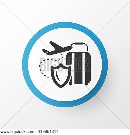 Travel Insurance Icon Symbol. Premium Quality Isolated Plane Assurance Element In Trendy Style.