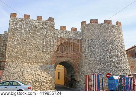 Gateway In The City Walls Of Olmedo In Spain