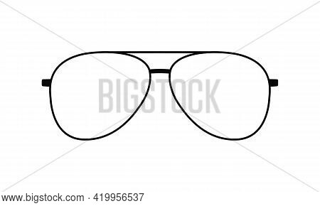Glasses Frame Graphic Icon. Eyeglasses Sign Isolated On White Background. Spectacles Symbol. Accesso