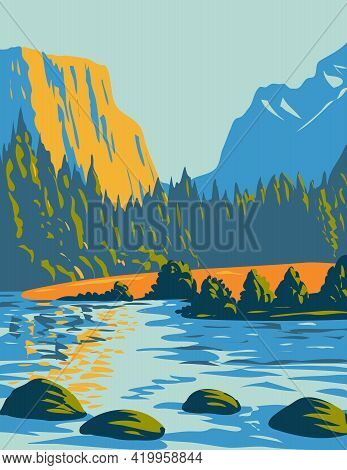 Wpa Poster Art Of The Voyageurs National Park Located In Northern Minnesota Near The Canadian Border
