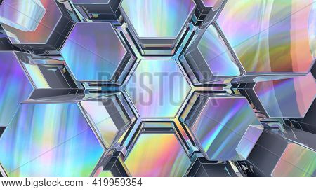 3d Rendered Abstract Digital Background With Displaced Noise