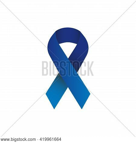 Illustration Vector Graphic Of Blue Ribbon Symbolizing Concern For Prostate Cancer. In Addition, The