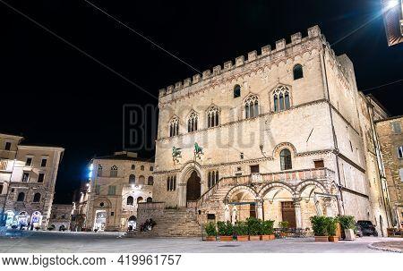The Palazzo Dei Priori, A Palace In Perugia - Umbria, Italy