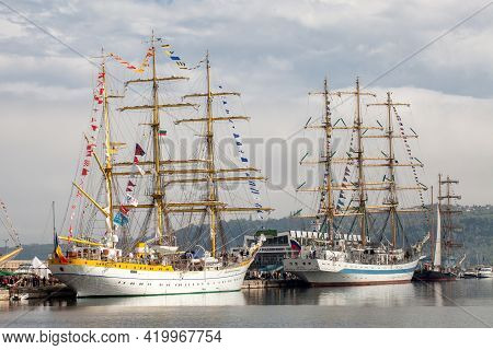 Varna, Bulgaria - April 30, 2014: Varna Is A Host Of The Prestigious International Maritime Event Fo