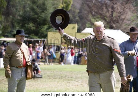 Huntington Beach Civil War Re-Enactment- Artilleryman Hat Off