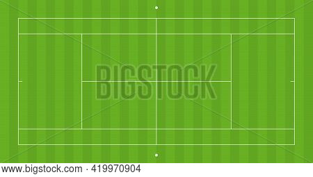 Vector Perspective Tennis Playground With 2d Effect
