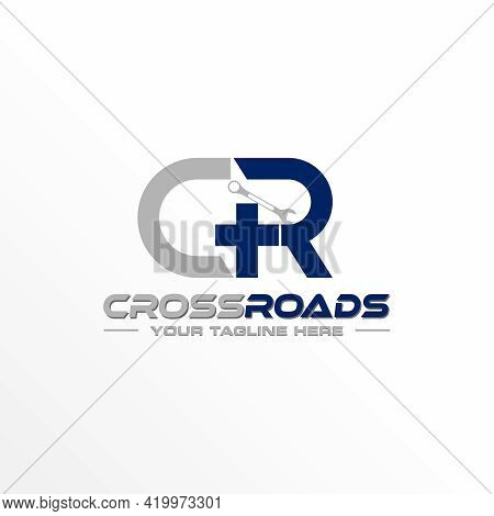 Letter Cr Logo Free Vector Stock. Wrench Abstract Design Concept. Can Be Used As A Symbol Related To