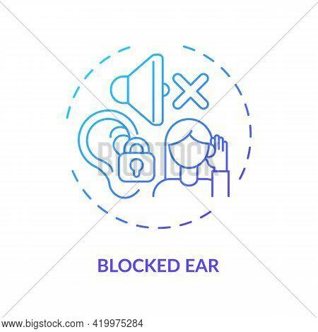Blocked Ear Concept Icon. Top Ear Condition Idea Thin Line Illustration. Tension Inside Tympanum, Eu