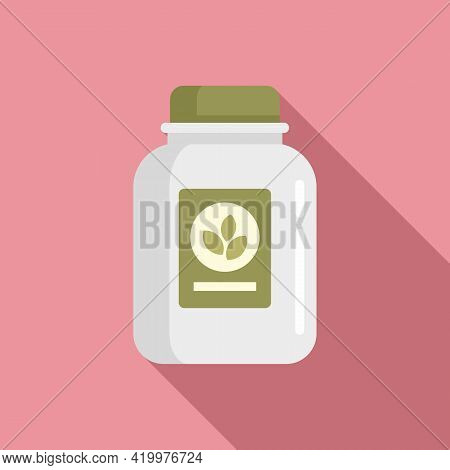 Fertilizer Jar Icon. Flat Illustration Of Fertilizer Jar Vector Icon For Web Design