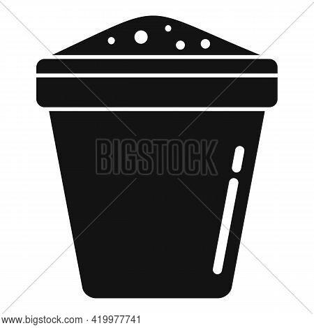 Fertilizer Plant Pot Icon. Simple Illustration Of Fertilizer Plant Pot Vector Icon For Web Design Is